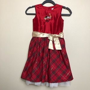 Disney Minnie Mouse Holiday Christmas Formal Dress
